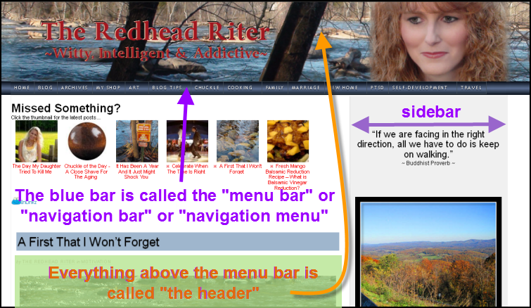 Navigation Bar, Navigation Menu, Menu Bar, Menu