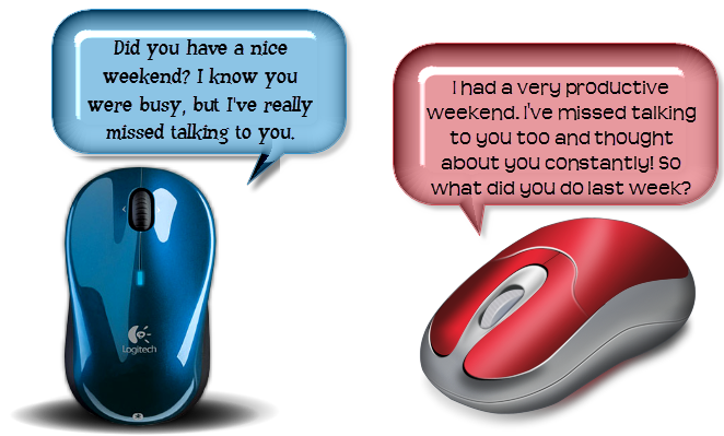 computer mouse communication