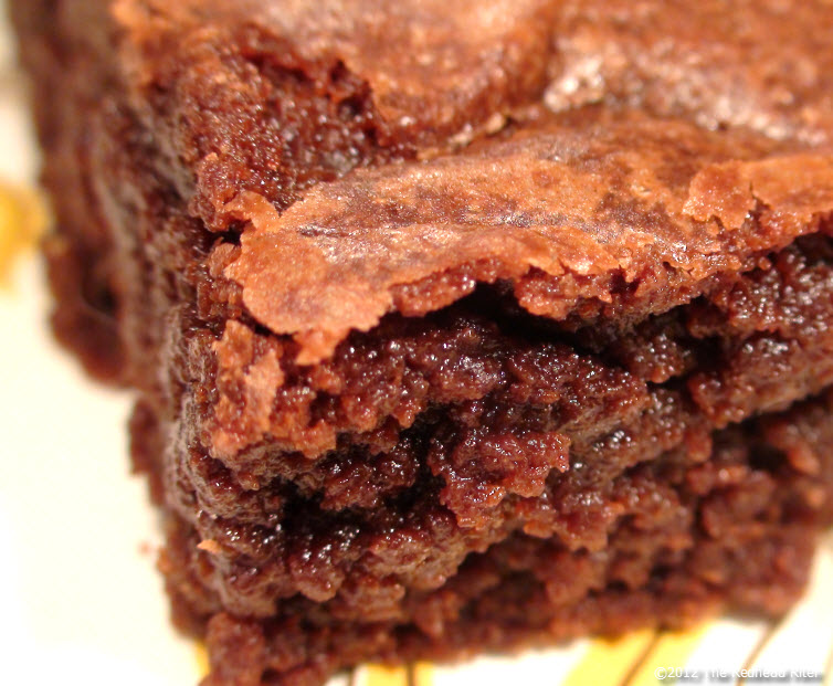 Moist Chewy Fudge Brownie
