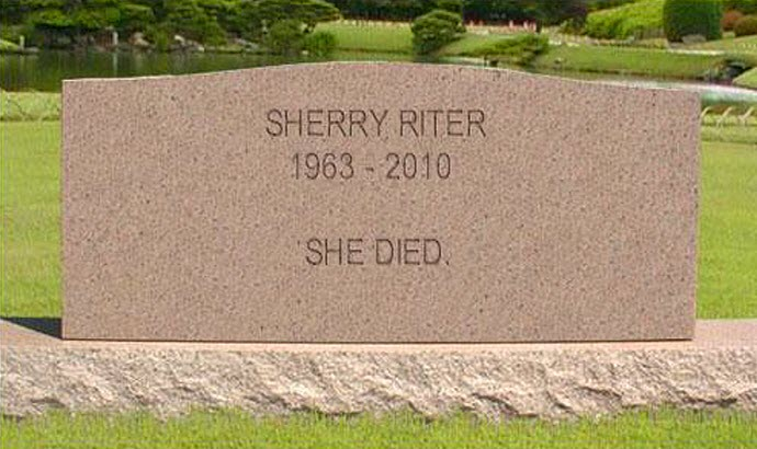 Sherry Riter tombstone