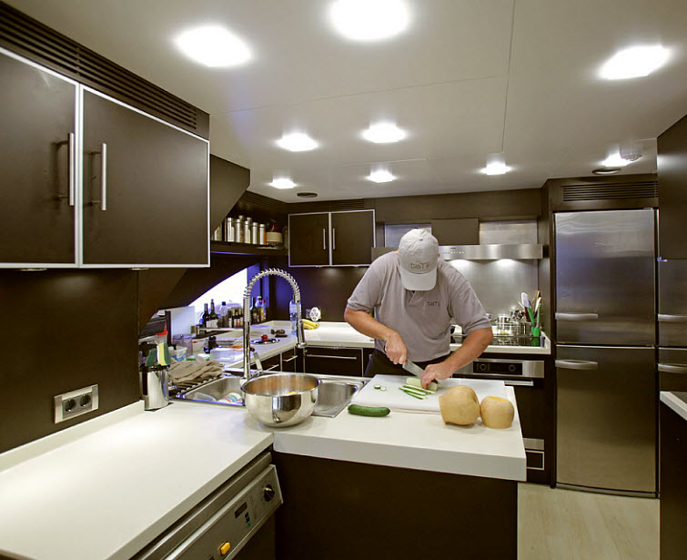 galley on the Tamsen Yacht