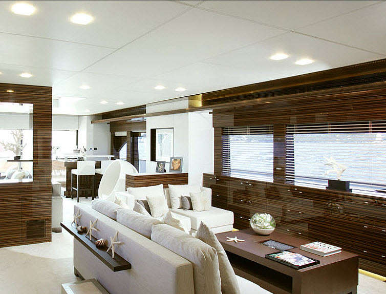 relaxing on the Tamsen Yacht