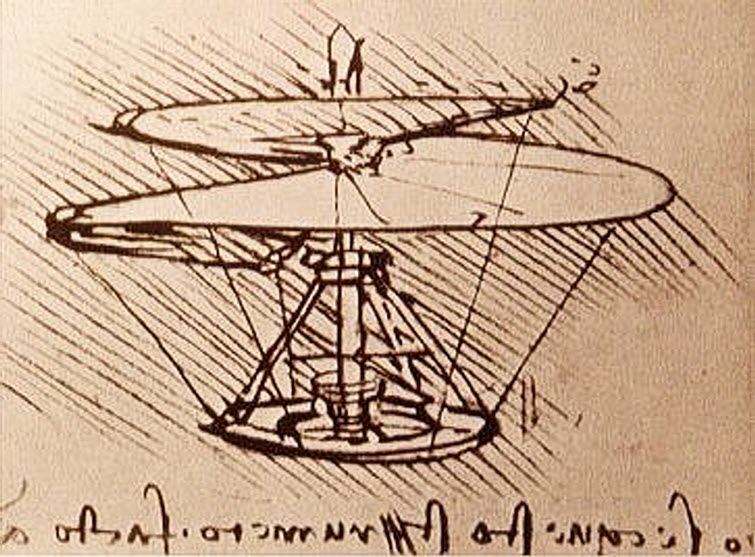 Leonardo_da_Vinci_drawing helicopter