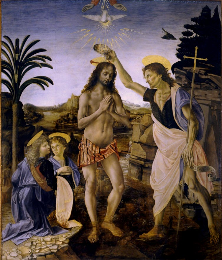 The Baptism of Christ Verrocchio