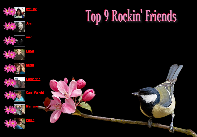 Top 9 Rockin' Friends