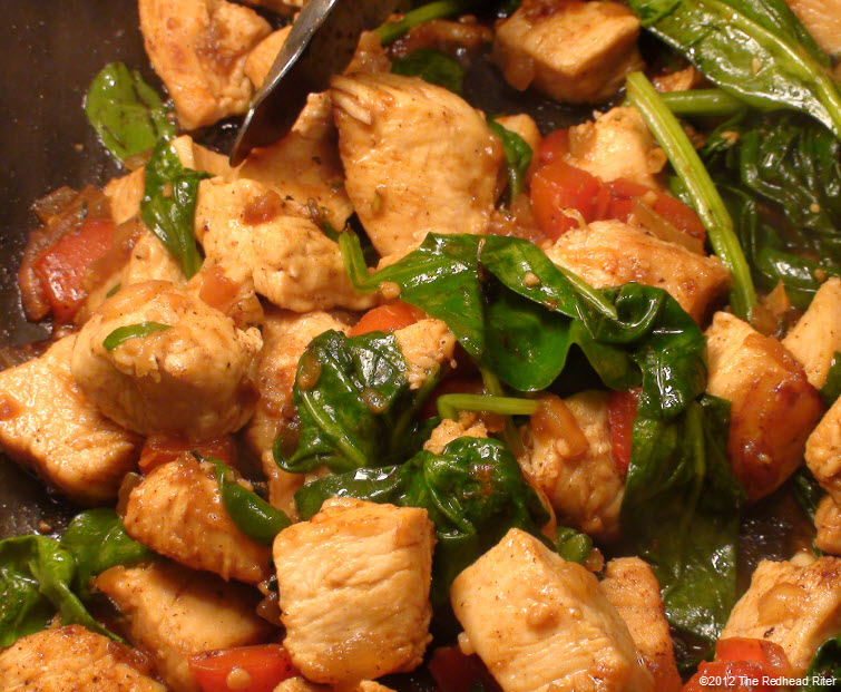 Colorful Chicken Corn Spinach Healthy 1