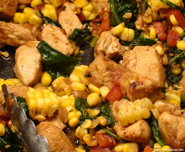 Colorful Chicken Corn Spinach Healthy 3