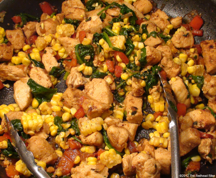 Colorful Chicken Corn Spinach Healthy 4