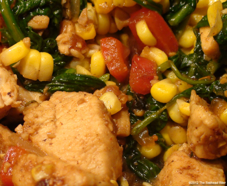 Colorful Chicken Corn Spinach Healthy 5