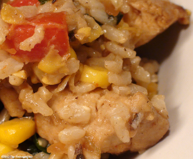 Colorful Chicken Corn Spinach Healthy 7