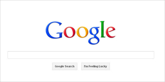 Google Homepage Search Engine White 1