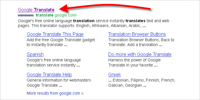 Google Search  Engine Translate Listing 3