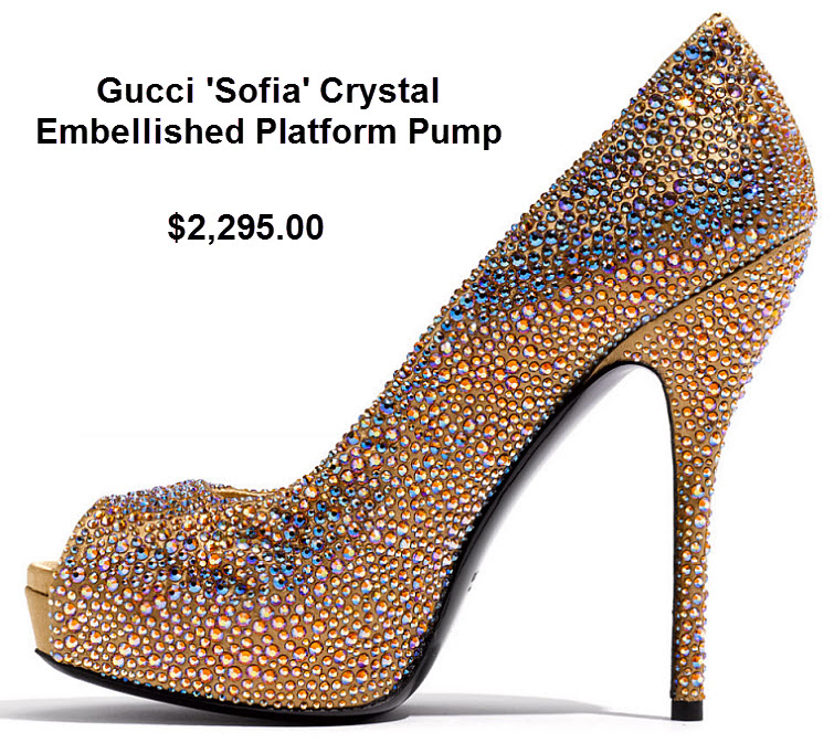 Gucci Crystal Embellished Platform Pump 2