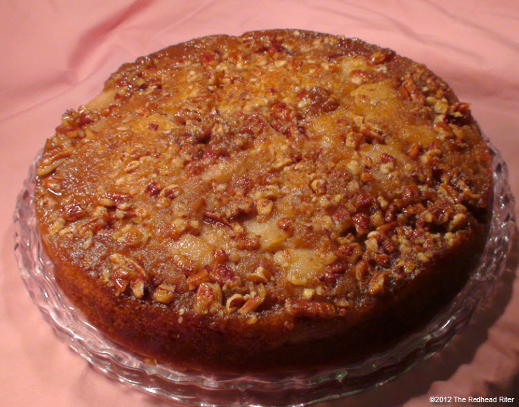 Red Pear Upside Down Banana Cake 20