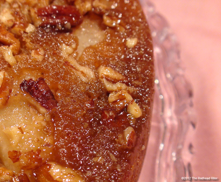 Red Pear Upside Down Banana Cake 23