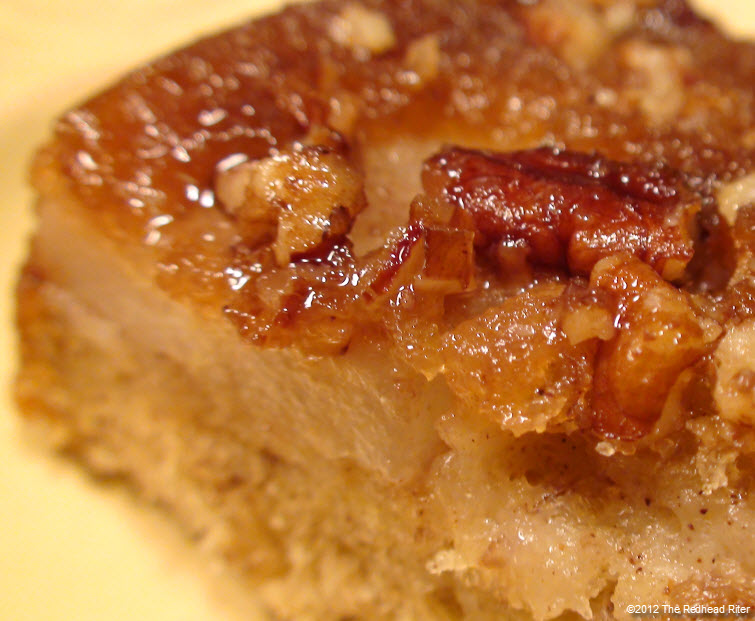 Red Pear Upside Down Banana Cake 25