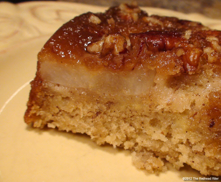 Red Pear Upside Down Banana Cake 27