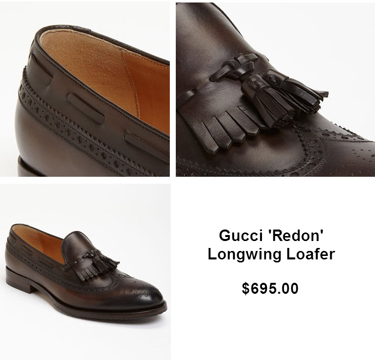 gucci redon longwing loafer shoe men