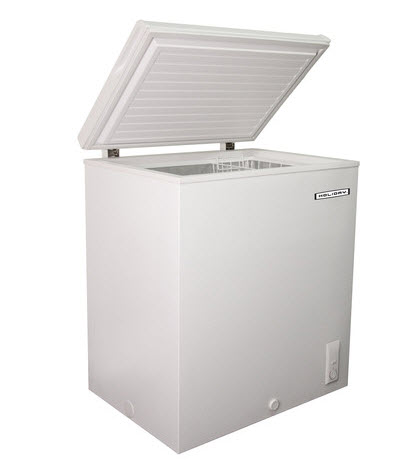 large white upright deep freezer