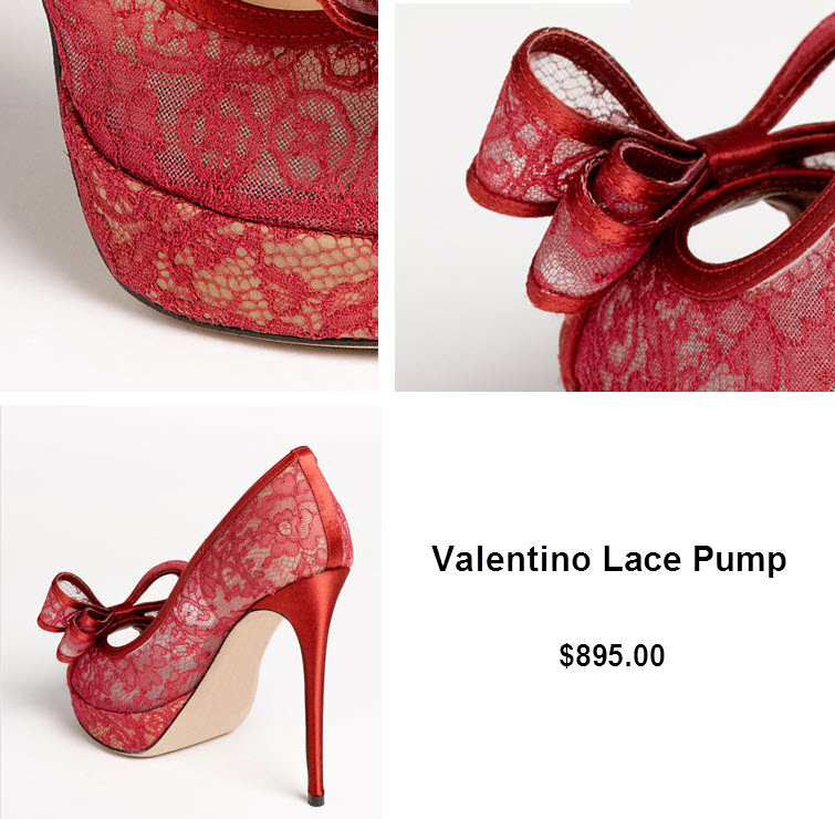 red valentino lace pump heels