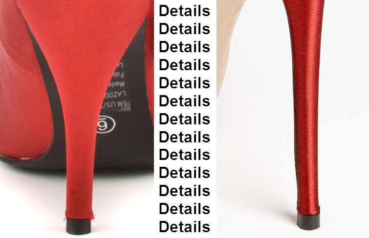 red womens high heel shoes