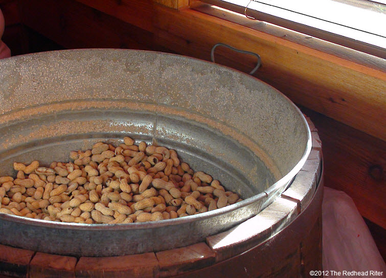 BIG bucket of peanuts