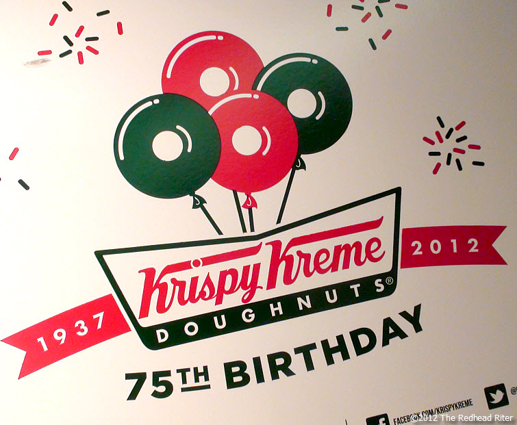 Krispy Kreme Doughnuts 75th Birthday
