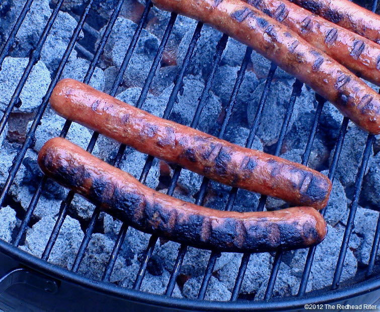 juicy plump grilled hot dogs