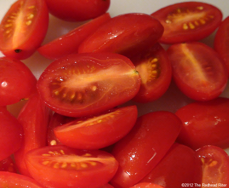 red sliced grape tomatoes 20