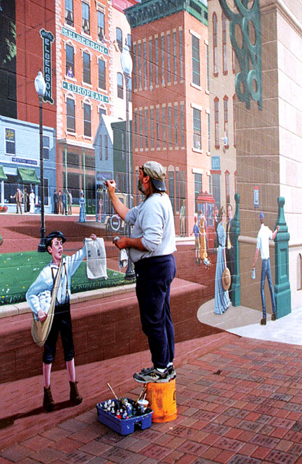 Eric Grohe Murals Bucyrus Great American Crossroad 2
