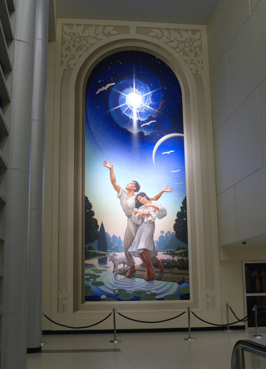 Eric Grohe Murals In the Beginning God Created 2