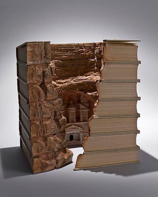 Guy Laramee Transforms Books Into Landscapes 13