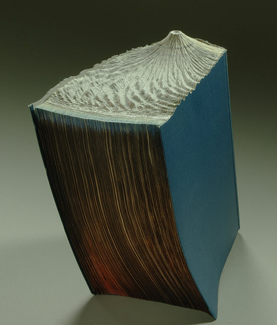 Guy Laramee Transforms Books Into Landscapes 14