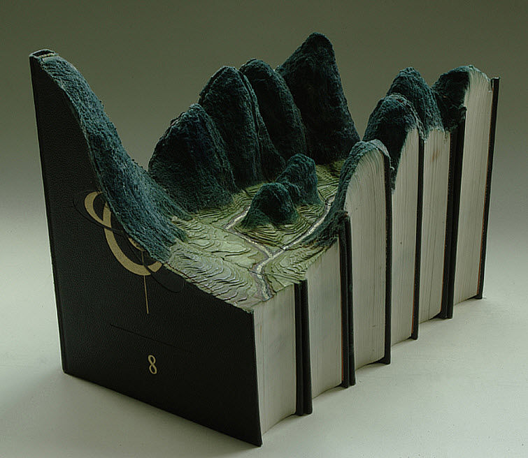 Guy Laramee Transforms Books Into Landscapes 7