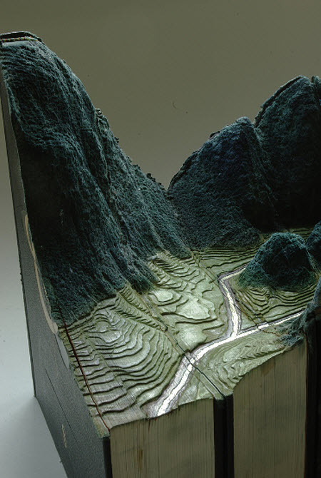 Guy Laramee Transforms Books Into Landscapes 8