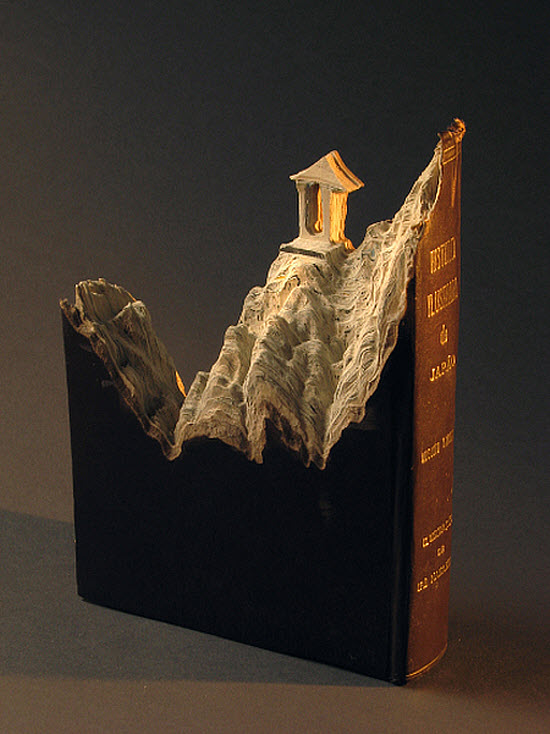 Guy Laramee Transforms Books Into Landscapes 9
