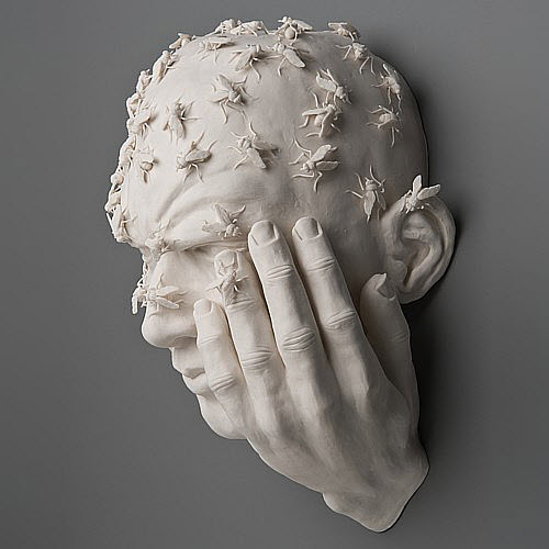 Kate MacDowell porcelain buzz side