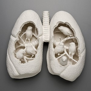 Kate MacDowell's Art – Porcelain White Body Parts Sculptures