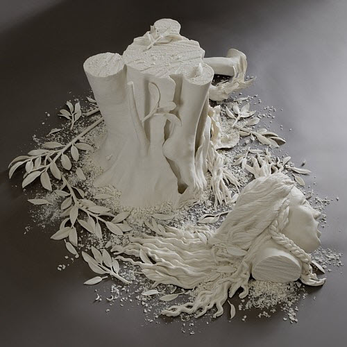 Kate MacDowell porcelain daphne_side