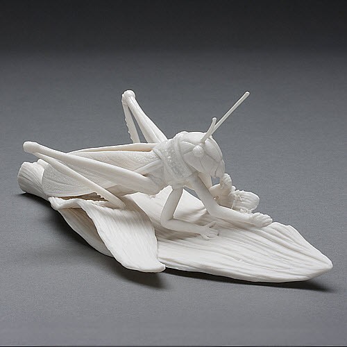 Kate MacDowell porcelain locusts_detail
