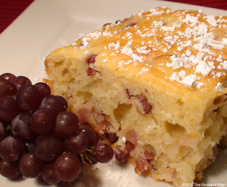 champagne grape cake sprinkled powder sugar 30