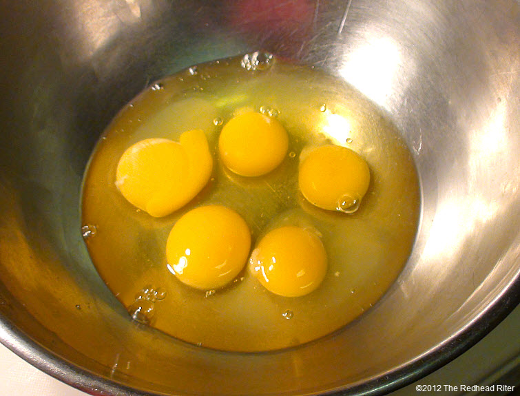 fresh organic yellow eggs 2
