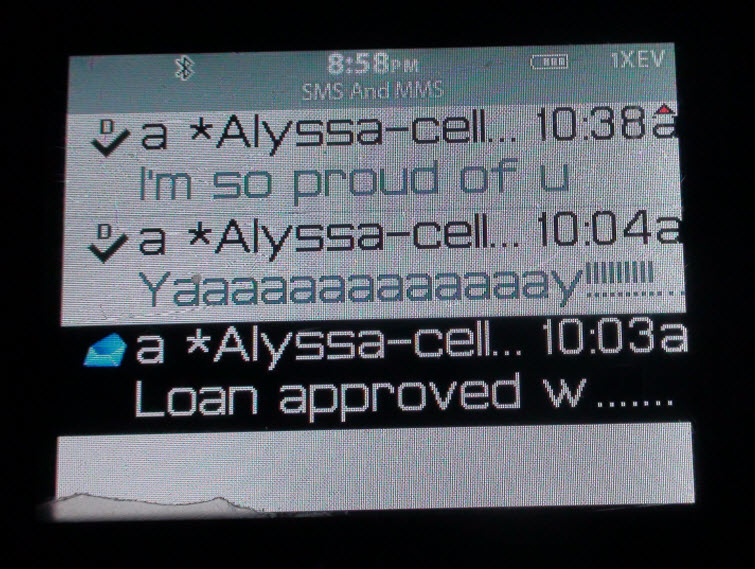 loan approved text message  1