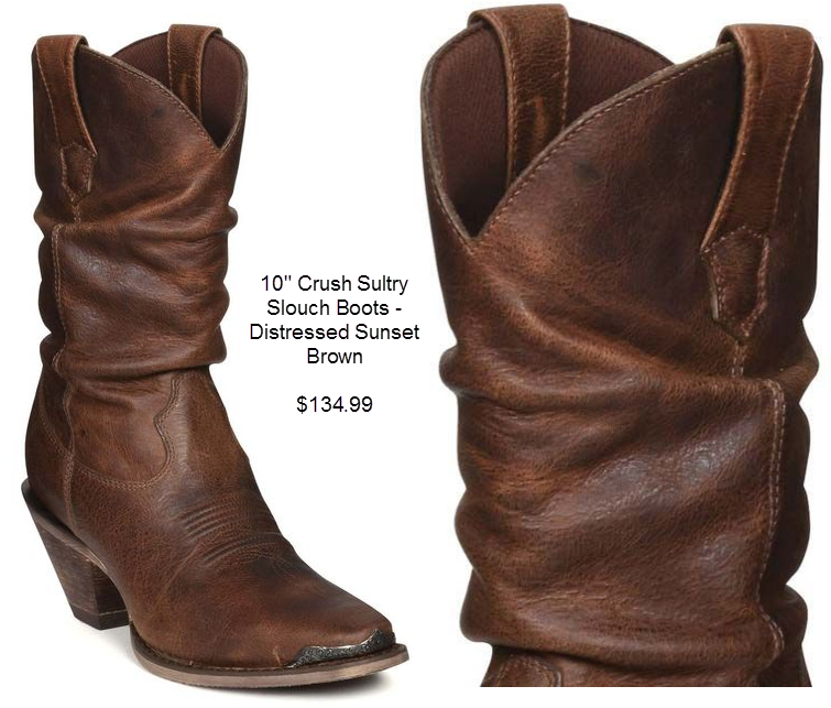Crush Sultry Slouch Boots - Distressed Sunset Brown