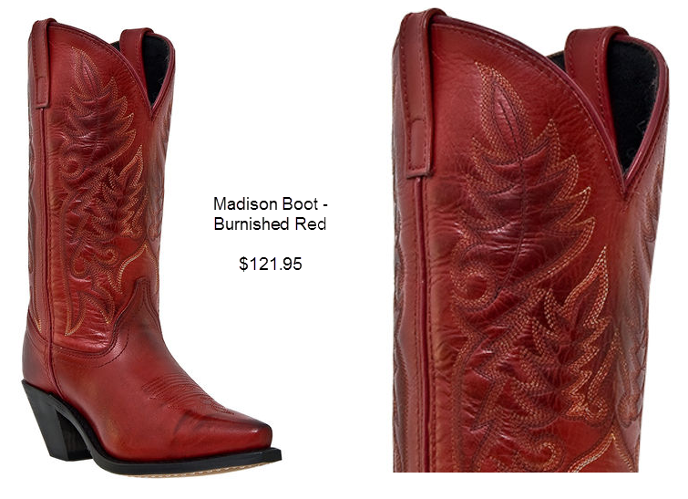 Madison Boot - Burnished Red