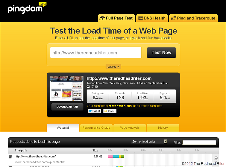 Pingdom For Website Load Time 2