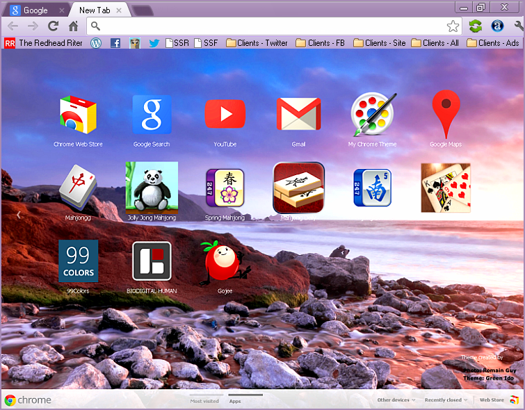google chrome theme icons organized