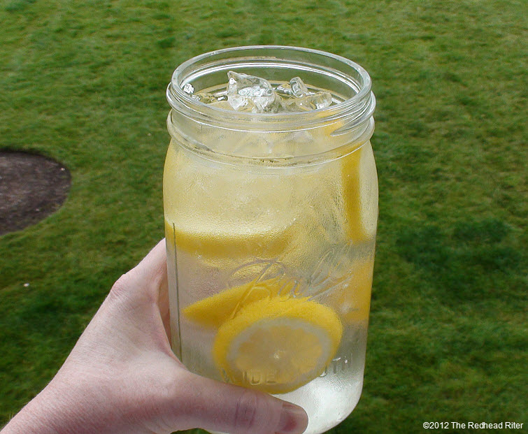 mason jar homemade lemonade summer