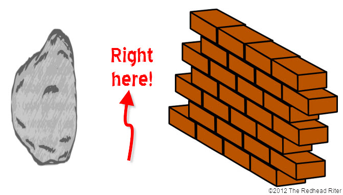picture rebus puzzles rock brickwall