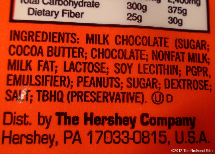 reeses peanutbutter cup ingredients 2
